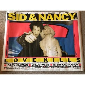 Original Sid and Nancy poster!!